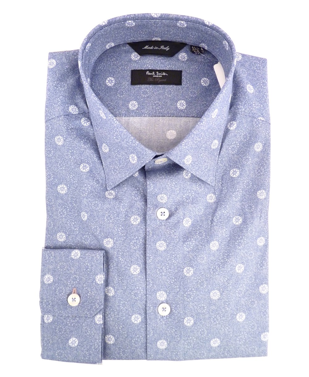 Gents 80% cotton 20% polyester top dyed yarn woven with full color fastness with one chest pocket and stand up collars full sleeves shirt with with three inch width .