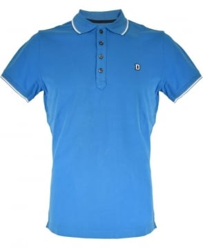 Diesel Blue Four Button Polo Shirt
