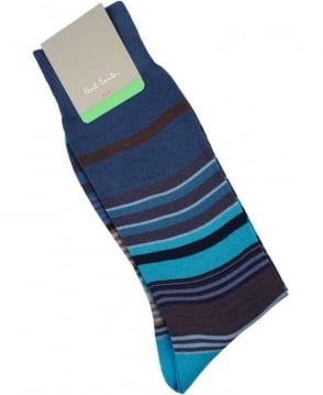 Paul Smith  Blue Fuel Stripe Socks