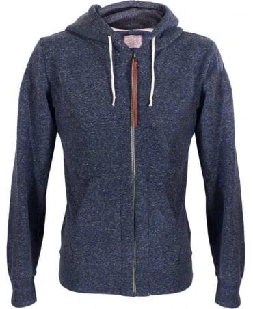 Replay Blue Full Zip Hooded Sweatshirt