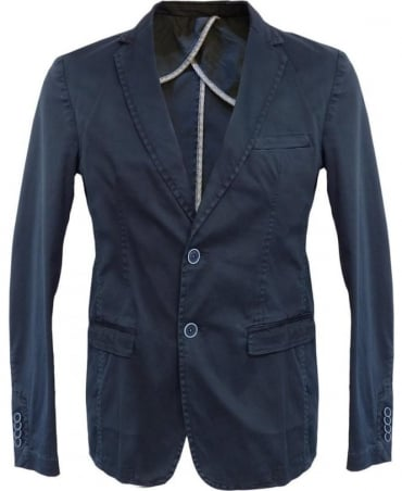 Hamaki-Ho Blue GA510H Two Button Jacket