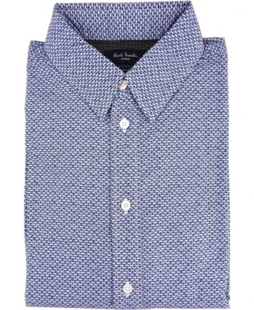 Paul Smith - Jeans Blue Geodesic Tailored-Fit Shirt