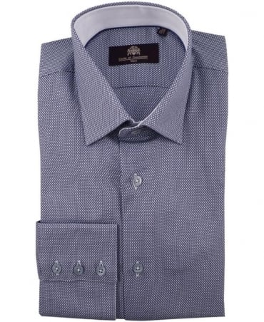 Circle of Gentlemen Blue Gerry Three Button Cuff Shirt