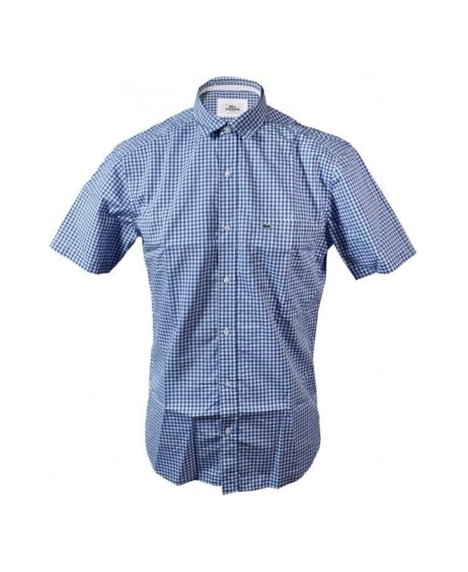 Lacoste Blue Gingham Check CH6021 Shirt