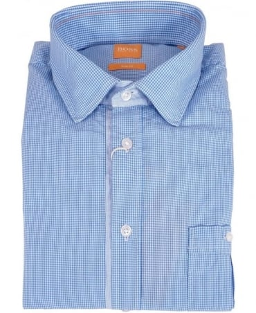Hugo Boss Blue Gingham ESlimE Shirt