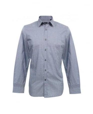 Paul Smith - PS Blue Gingham Slim Fit Shirt PJXD 164L 416