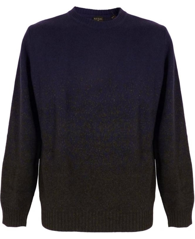 Paul Smith Blue Graded Jacquard Sweater