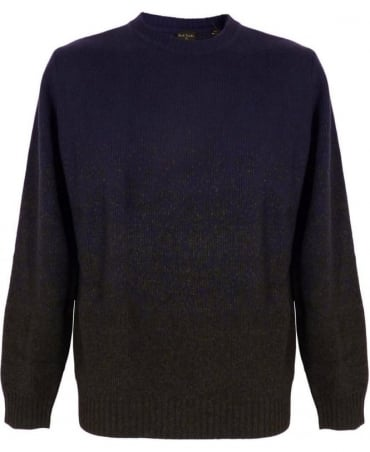 Paul Smith - PS Blue Graded Jacquard Sweater