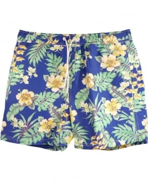 Scotch & Soda Blue & Green Floral 84256 Swim Shorts