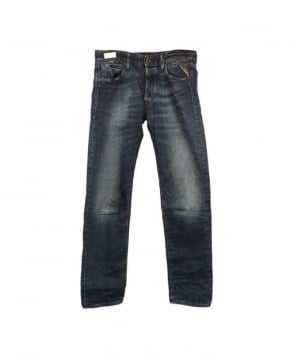 Replay Blue/Green Lenrick Jeans