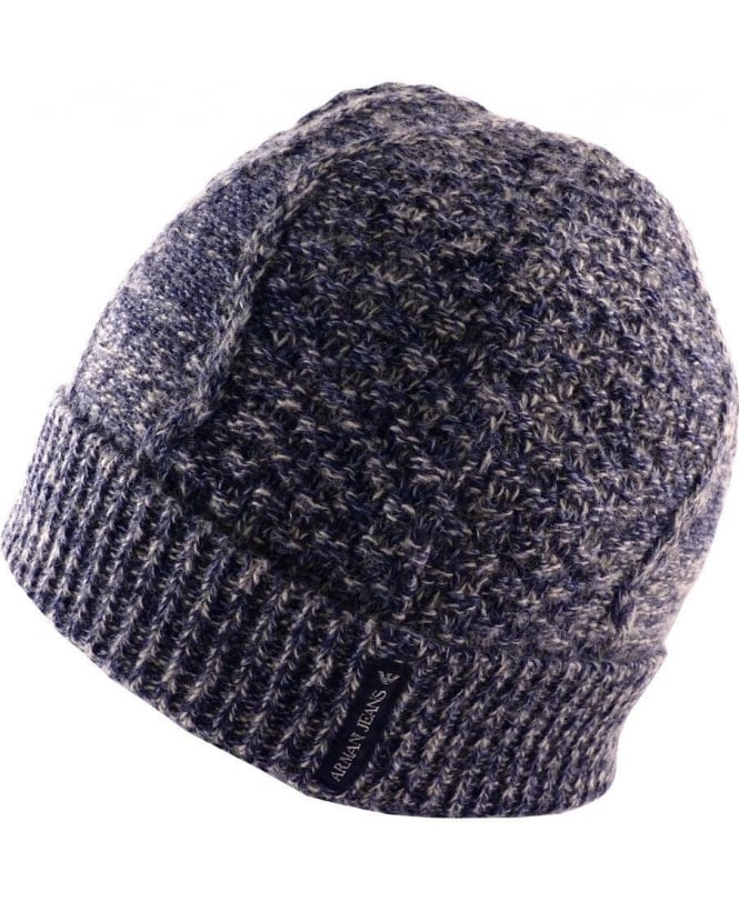 Armani Jeans Blue & Grey 'Fantasia' B6420V1 Knitted Hat