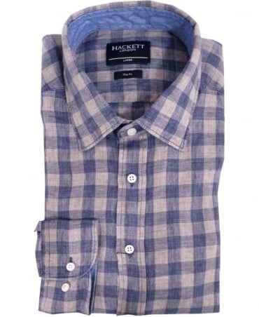Hackett Blue & Grey Square Check 303737 Shirt