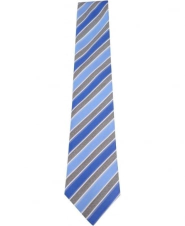 Hugo Boss Blue & Grey Stripe Tie 50262444
