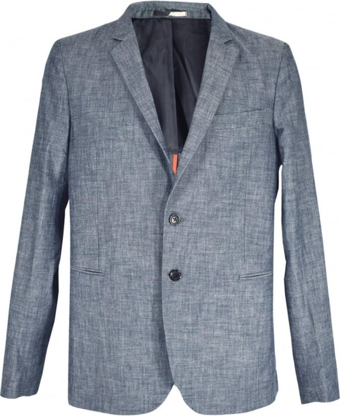 a37024ad9af4 PS Paul Smith PS Paul Smith Blue   Grey Two Button PSXD-1707-443 Jacket