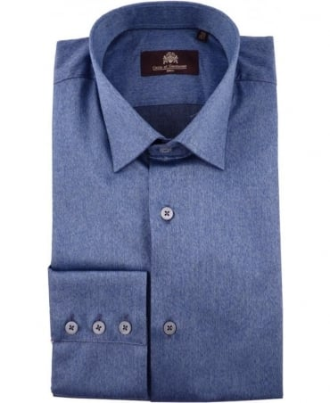 Circle of Gentlemen Blue Guy Three Button Cuff Shirt