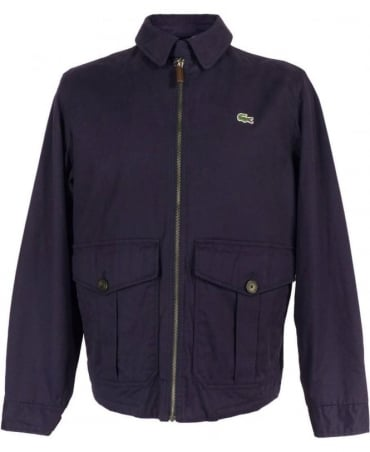 Lacoste Blue Harrington Style Jacket