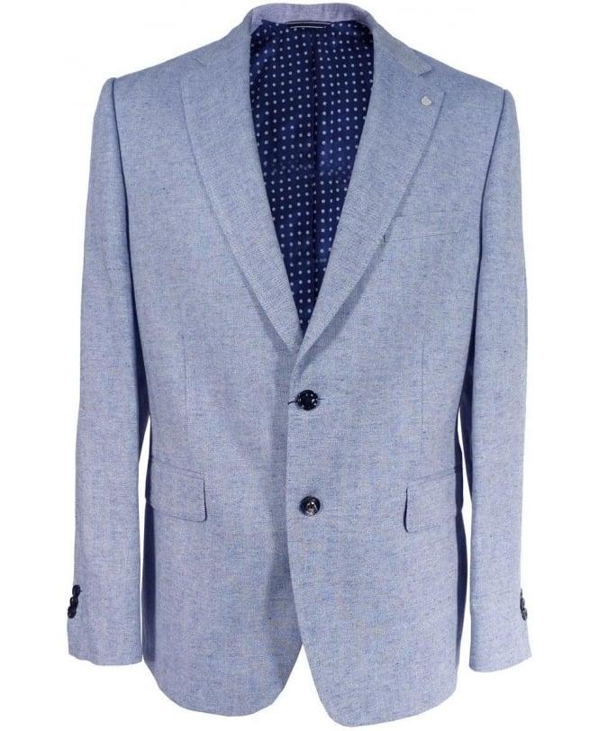 Gant Blue Herringbone 76961 Classic Fit Jacket