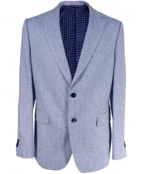 Gant Blue Herringbone 76961 Classic Fit Jacket