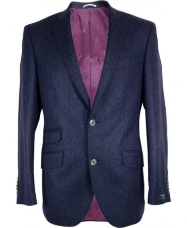 Blue Herringbone Richard Single Vent Jacket