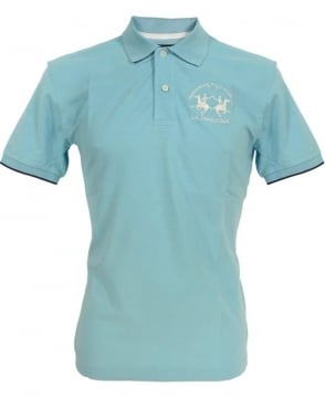 La Martina Blue HMP001 Large Logo Polo
