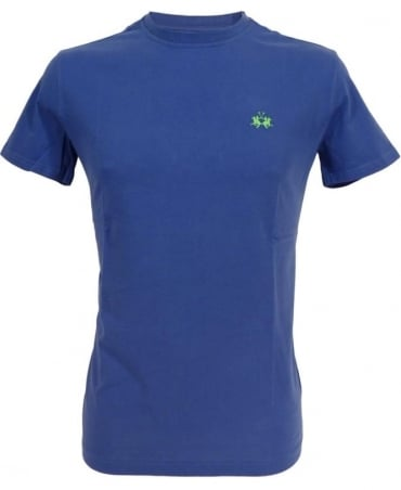 La Martina Blue HMR018 Crew Neck T-shirt