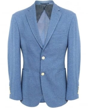 Hackett Blue Honeycomb Piquet Jacket 441196