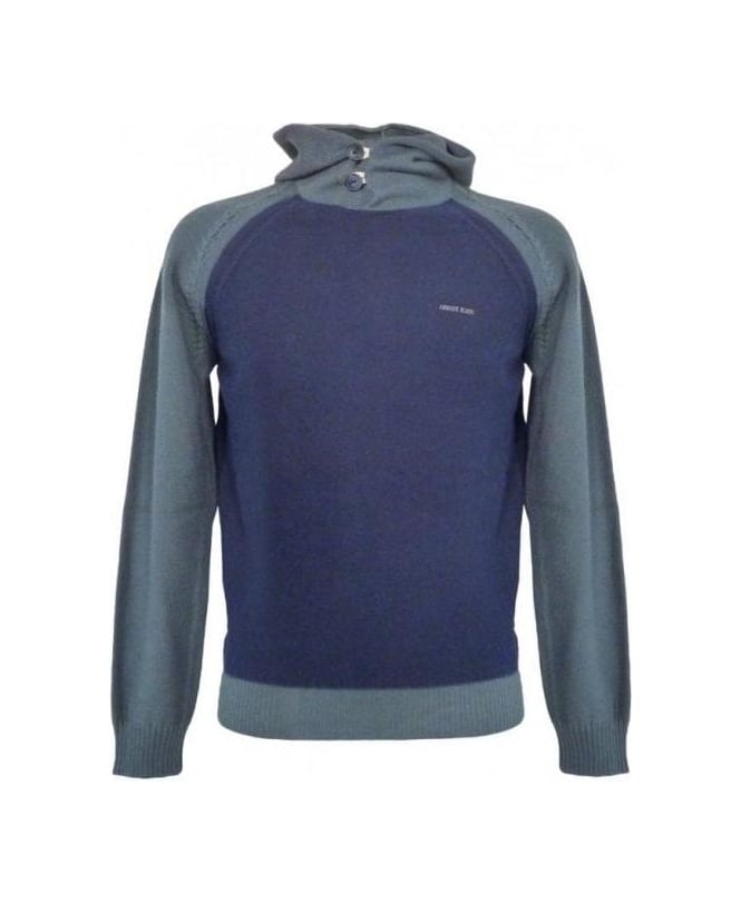 Armani Blue Hooded Jumper