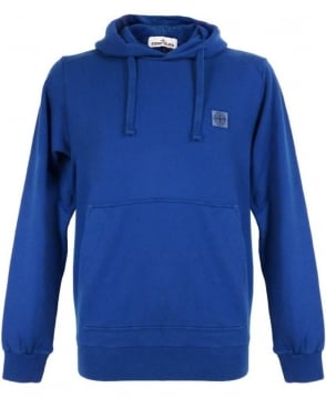 Stone Island Blue Hooded Sweatshirt