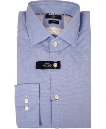 Hackett Blue Houndstooth Multi Shirt