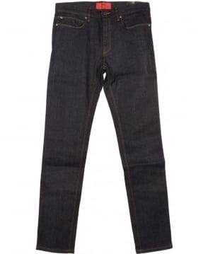 Blue HUGO 734 Japanese Denim Skinny Fit Jeans