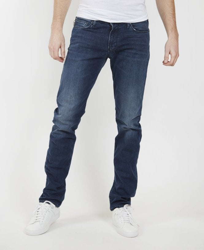 34cfcb248390 Emporio Armani Blue J06 Slim Fit Jeans - Jeans from Jonathan Trumbull UK