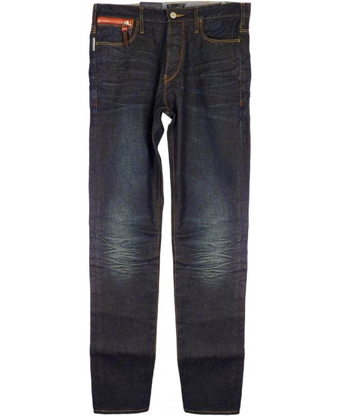 Armani Blue J16 Low Crotch Antifit Jeans