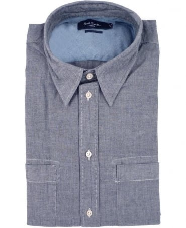 Paul Smith - Jeans Blue JMFJ/844N/628 Duel Chest Pocket Classic Fit Shirt