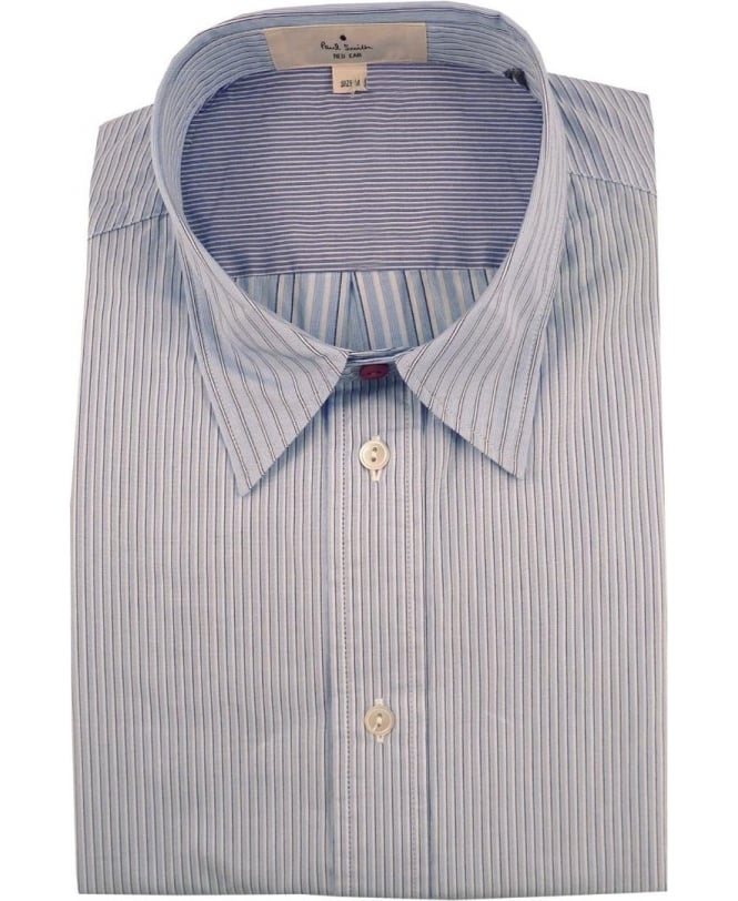 Paul Smith Blue JNRJ-236P-B85 Mixed Stripe Shirt