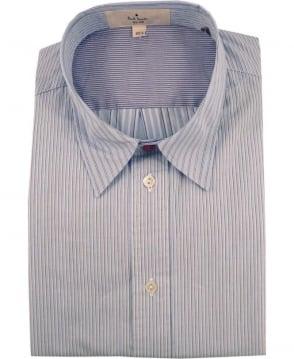 Paul Smith  Blue JNRJ-236P-B85 Mixed Stripe Shirt