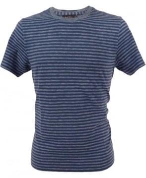 Paul Smith  Blue JPFJ-586P-D49 Stripe Crew T-shirt