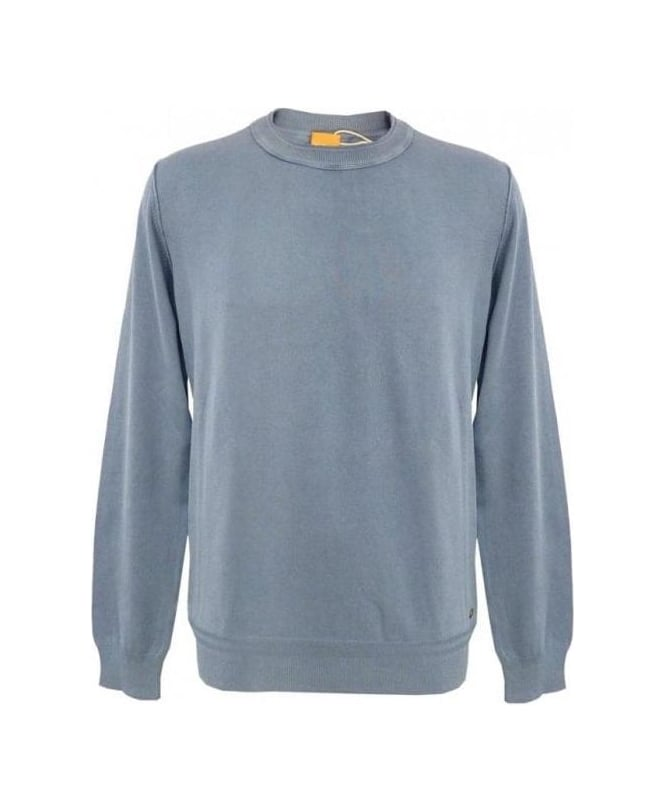 Hugo Boss Blue Kladio Crew Neck Knitwear 50261335