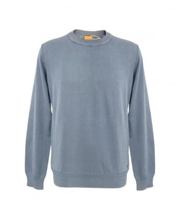 Hugo Boss Blue Kladio Crew Neck Knitwear 50261335