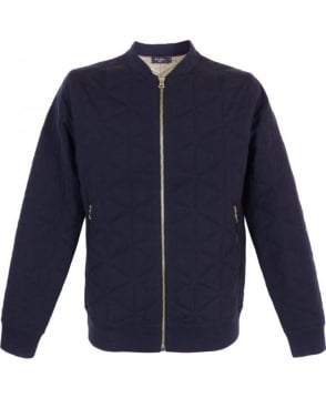 Paul Smith  Blue Knitted Track Top