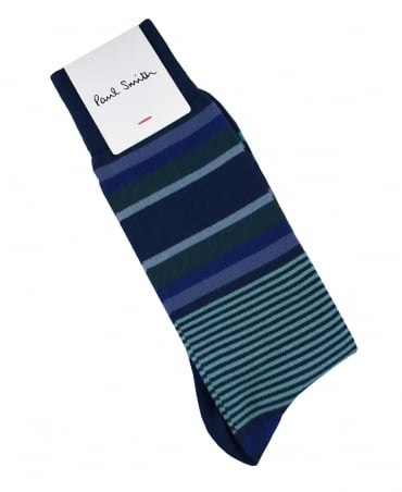 Paul Smith  Blue Lawn Stripe ATXC/380A/K491 Socks