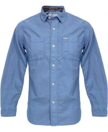 Replay Blue Long Sleeve M4859 Cotton Shirt