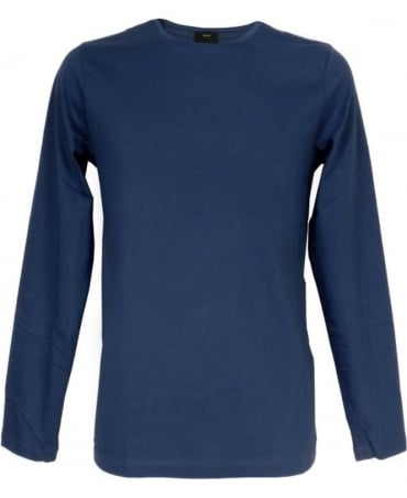 Hugo Boss Blue Long Sleeved Leo 80 T-Shirt
