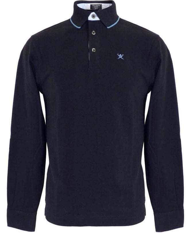 Hackett Blue Longsleeve Polo Shirt