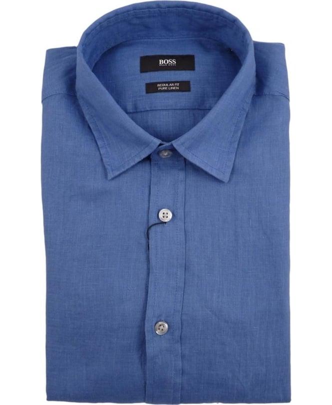 dea4dd93 Boss Blue Lukas 50304359 Linen Shirt - Shirts from Jonathan Trumbull UK