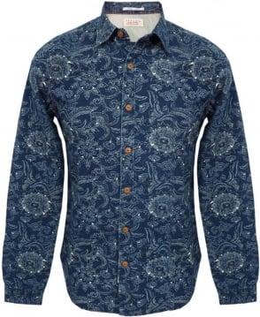 Replay Blue M4862 Denim Look Shirt