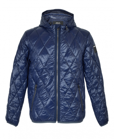 Blue M8854 Hooded Quilted Jacket
