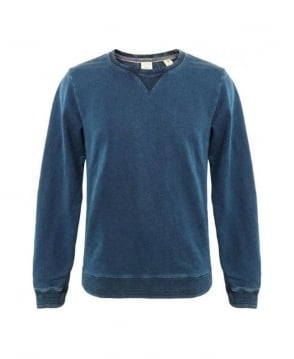 Scotch & Soda Blue Magic Crew Neck Sweatshirt