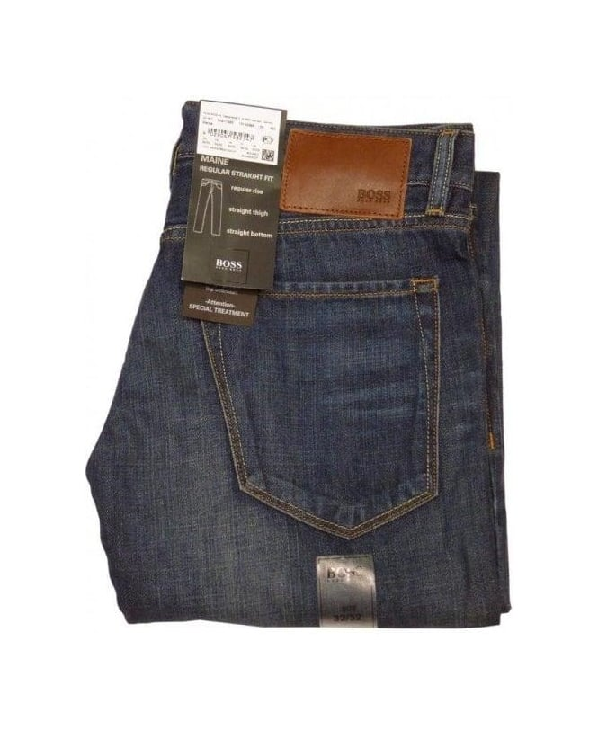 Hugo Boss Blue Maine Straight Jeans
