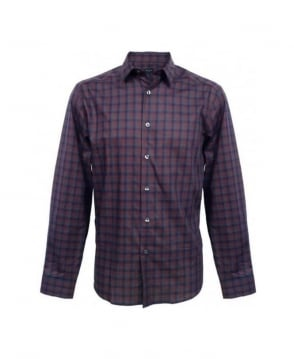 Paul Smith  Blue & Maroon Check Shirt