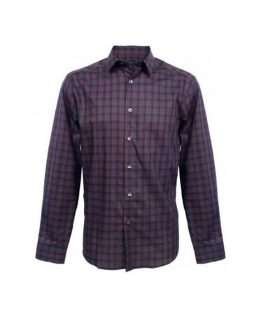 Paul Smith - PS Blue & Maroon Check Shirt